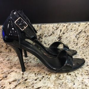 Candies black heels with ankle strap